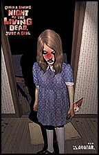 NIGHT OF THE LIVING DEAD: Just a Girl Blood Red Convention Foil
