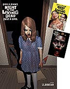NIGHT OF THE LIVING DEAD: Just a Girl Sticker set