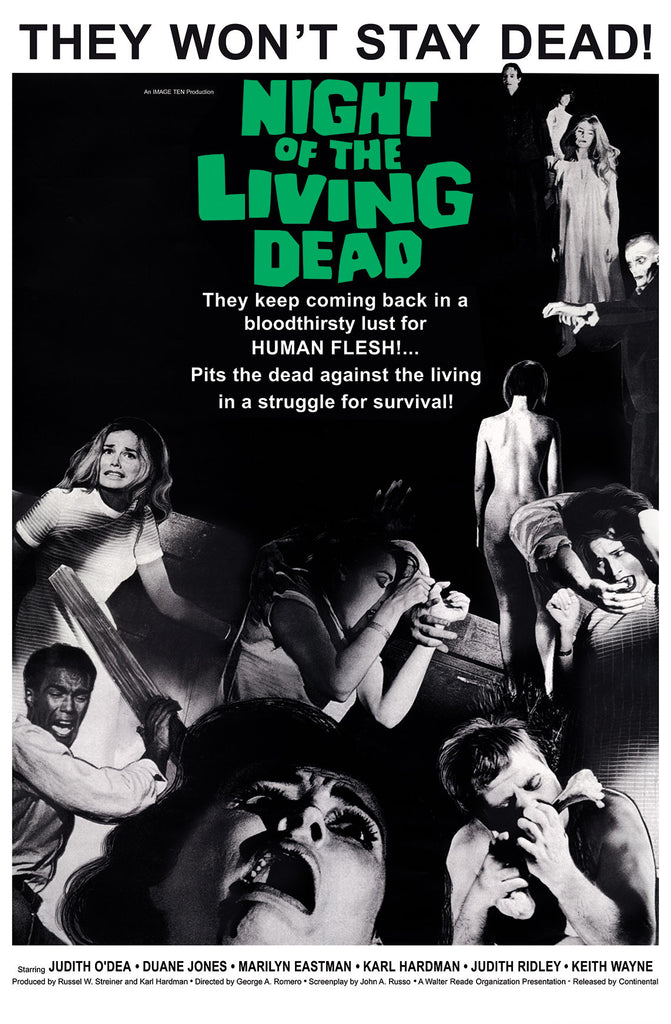 NIGHT OF THE LIVING DEAD Original Movie Poster Art Print