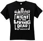 NIGHT OF THE LIVING DEAD 40th Anniversary Zombies T-Shirt -- Size Medium