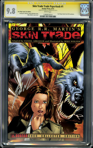 GEORGE R.R. MARTIN SKIN TRADE TP CGC 9.8 SIGNATURE SERIES