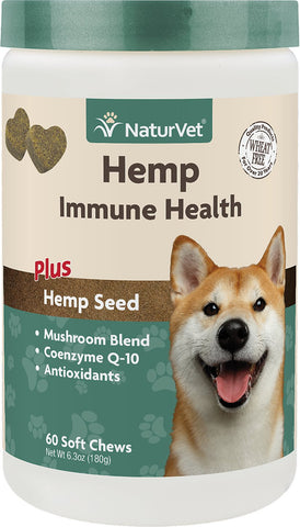 Hemp Immune Health – NaturVet (60 Soft Chews)