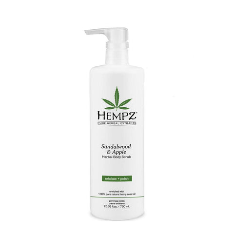 Hempz Sandalwood And Apple Body Scrub Bonus Size