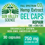 SunValley Science 750mg (30/25mg) REPAIR Gel Caps +CBG/CBC