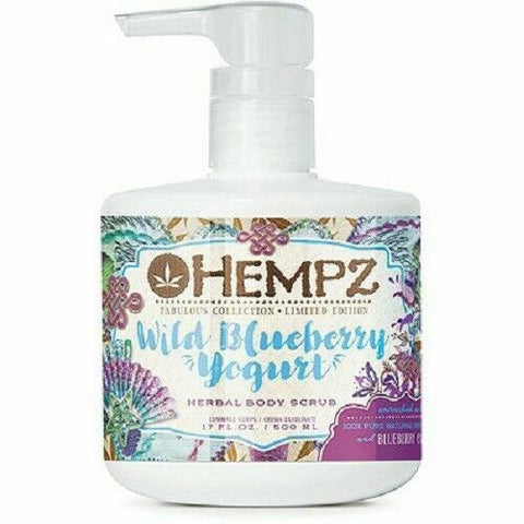 Hempz Herbal Body Scrub Wild Blueberry Yogurt 17oz