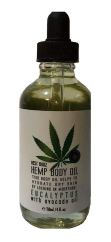 Best Budz Hemp Body Oil - Eucalyptus with Avocado Oil