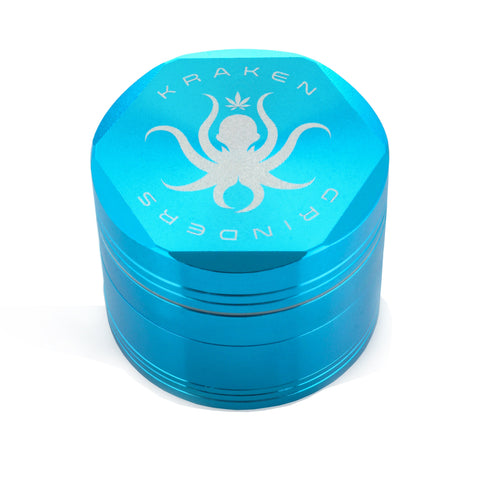 "Kraken 2.5"" Hex 4-part Grinder - 2.5 Inches - Light Blue"