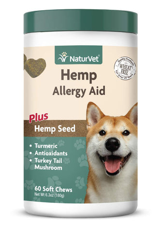 Hemp Allergy Aid - NaturVet (60 Soft Chews)