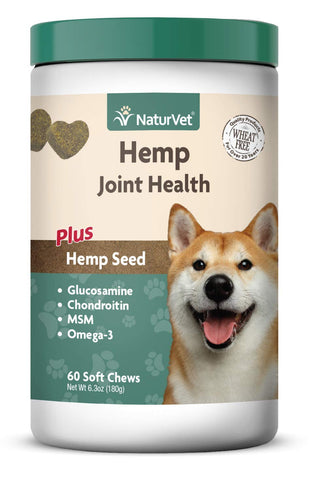 Hemp Joint Health for Dogs – NaturVet (Qty: 60 or 120 Soft Chews)