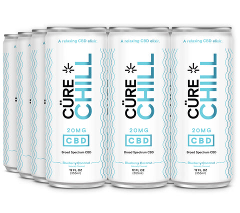 The Cure Brand Cüre CHILL Sparkling Elixir 12oz 20mg (12pack)
