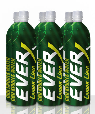 Everx Lemon Lime Flavored CBD Water (6 pack)