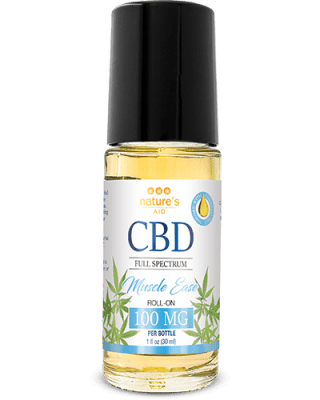 Nature's Aid CBD + Essential Oil Roll-On (Muscle Ease)