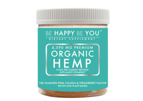Be Happy Be You Organic Hemp Gummies (51MG/Serving)