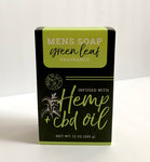 Common Wealth Soap Co. Mens Soap Infused with Hemp + CBD Oil - Green Leaf Fragrance