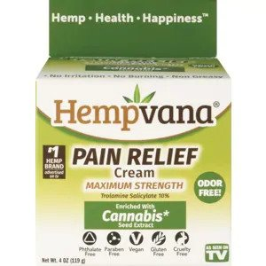 Hempvana Pain Relief Cream, 4 OZ