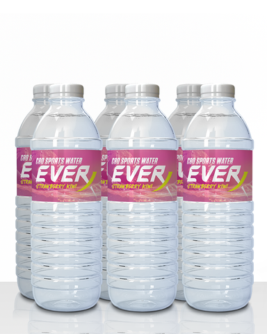 Throwback Everx Strawberry Kiwi Flavored CBD Water (6 pack)