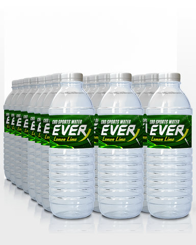 Throwback Everx Lemon Lime Flavored CBD Water (24 pack)