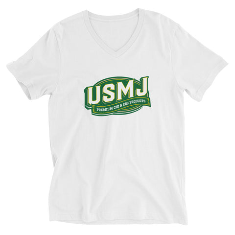 USMJ Brand Unisex Short Sleeve V-Neck T-Shirt
