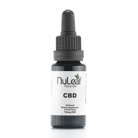 NuLeaf 725mg Broad Spectrum CBD Oil, High Grade Hemp Extract (50mg/ml)
