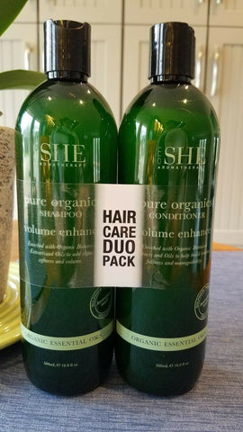 OM SHE Aromatherapy Pure Organic Shampoo/Conditiner Duo Pack