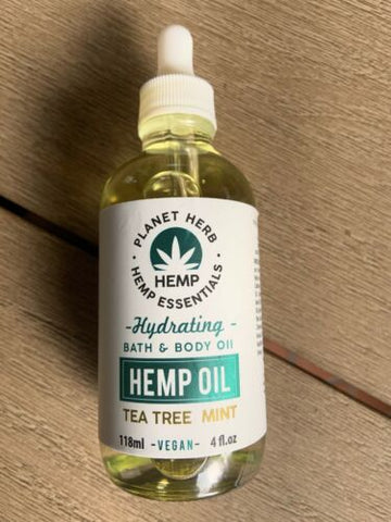 Planet Hemp Essentials Hydrating Bath & Body Oil