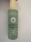 Clean Beauty Hemp Seed Oil Facial Oil repair + Protect 2 FL oz