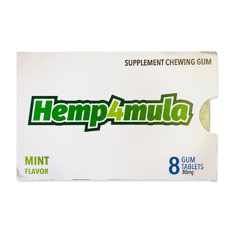 Hemp4mula Supplemental Chewing Gum - Mint - (8 Tablets)