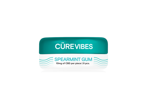 The Cure Brand Cüre Vibes Spearmint Gum 10mg CBD