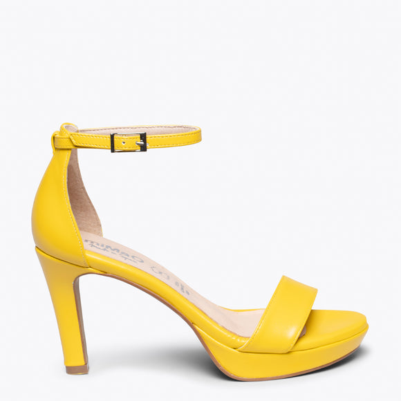FIESTA - YELLOW HIGH HEEL SANDAL