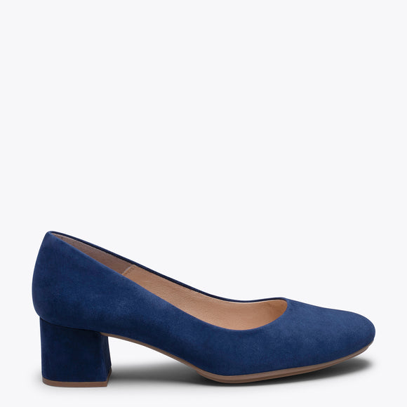 URBAN ROUND - NAVY LOW HEEL