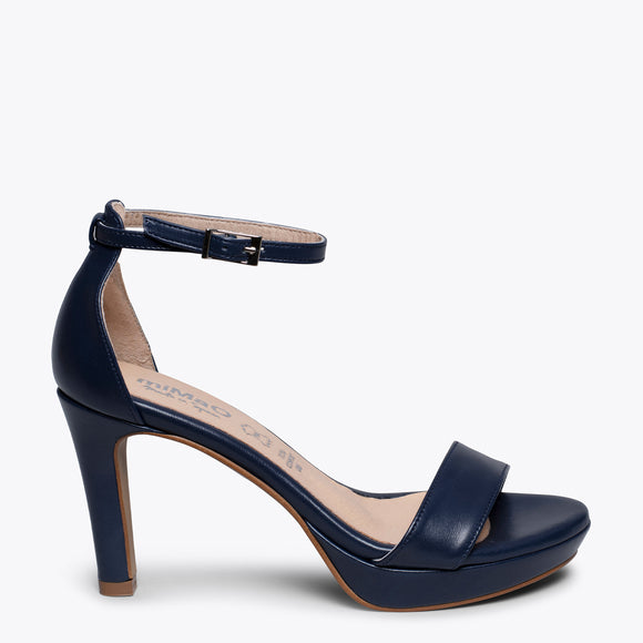 FIESTA - NAVY HIGH HEEL SANDAL