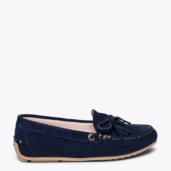 LACED LOAFER - NAVY loafer