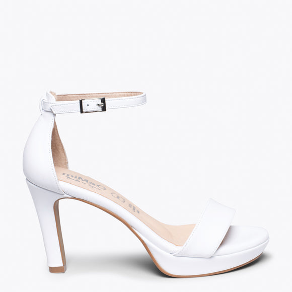FIESTA - WHITE HIGH HEEL SANDAL