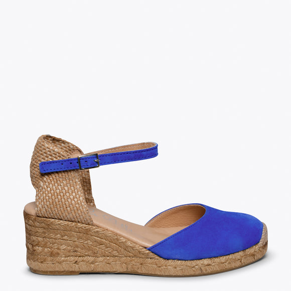ALTEA - KLEIN BLUE jute espadrille wedge heel