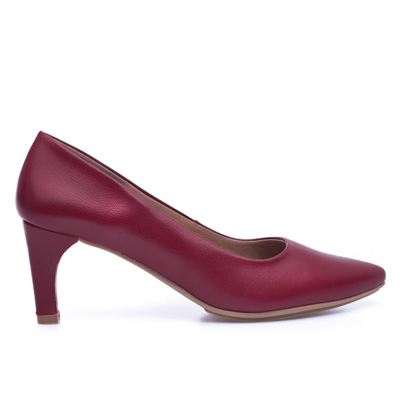 STILETTO - RED slim mid heel