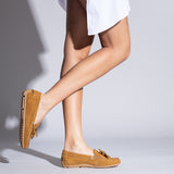 LACED LOAFER - CAMEL loafer