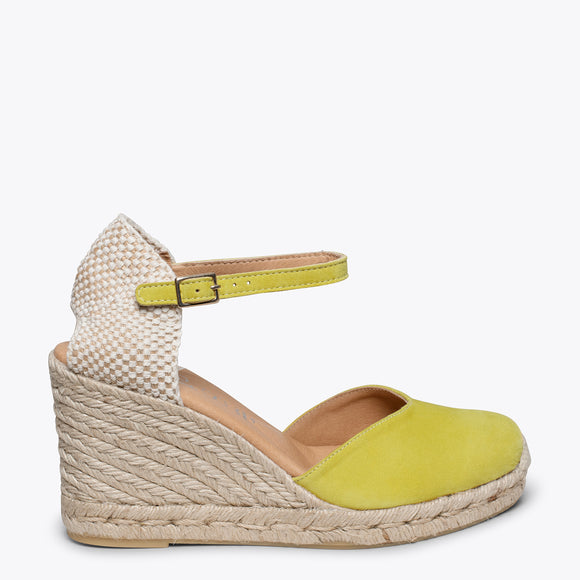 NERJA - YELLOW jute espadrille wedge heel