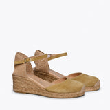 ALTEA - TAN jute espadrille wedge heel