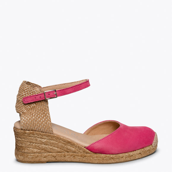ALTEA - HOT PINK jute espadrille wedge heel