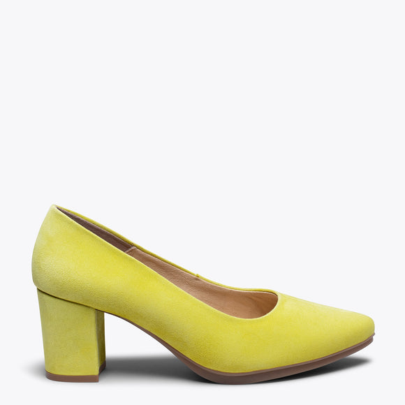 URBAN S - YELLOW mid heel