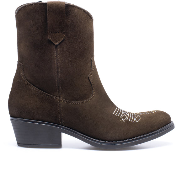 RODEO BOOTIE - BROWN cowboy bootie