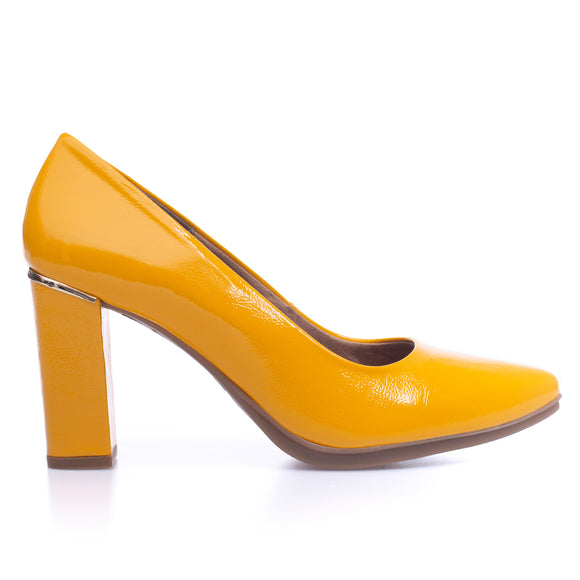 URBAN PATENT- YELLOW patent leather high heel
