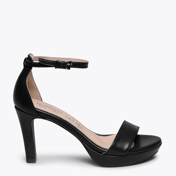 FIESTA - BLACK HIGH HEEL SANDAL