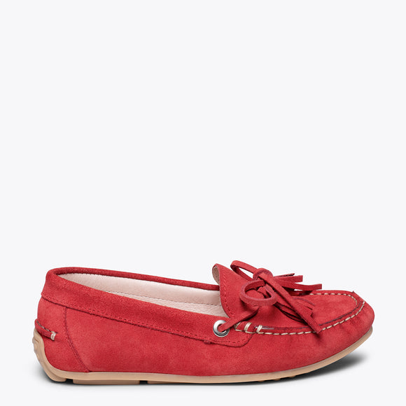 LACED LOAFER - RED loafer