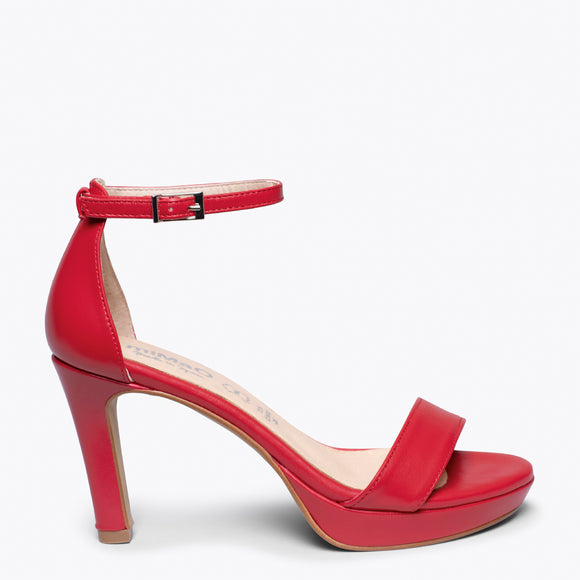 FIESTA - RED HIGH HEEL SANDAL