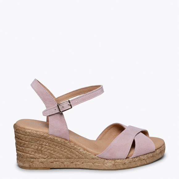 CALPE – POWDER JUTE STRAP SANDAL WEDGE