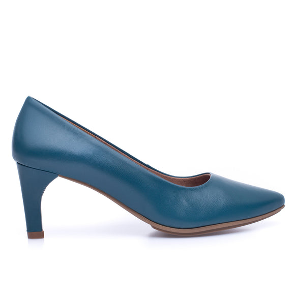 STILETTO - BLUE slim mid heel