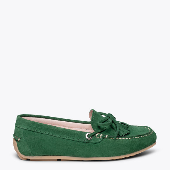 LACED LOAFER - GREEN loafer