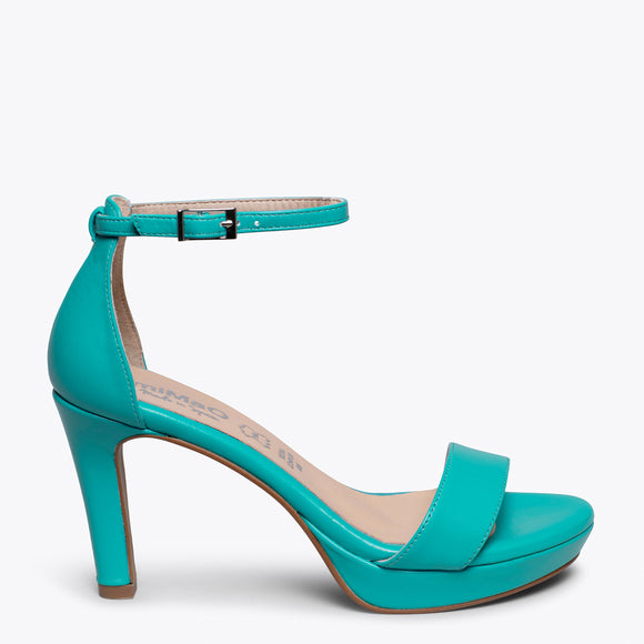 FIESTA - GREEN HIGH HEEL SANDAL