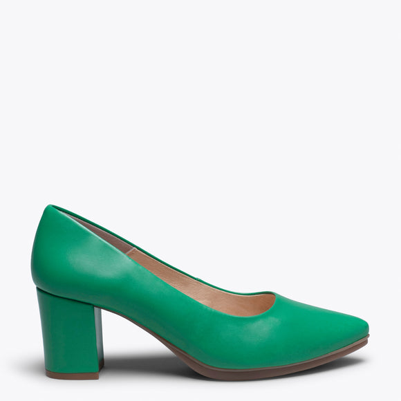URBAN S SALON- GREEN MID HEEL